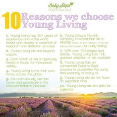 Why we choose Young Living. These essential oils are life changing! :) Best way to get started is with the Premium Starter Kit.