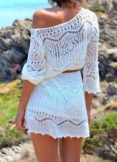 Stylish Hollow Out White Cover-Up, Like it?