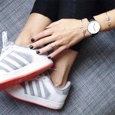 From instagram : Val Let #adidas #danielwellington #essie #bangles #zorabyl