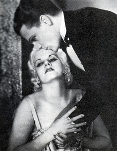 """Jean Harlow and James Cagney, """"Public Enemy"""", 1931, via Flickr."""
