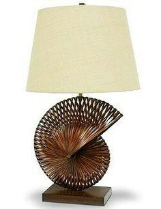 South Pacific Bamboo Nautilus Lamp Price:654  SOURCE: nauticalluxuries.com