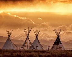 Cheyenne Tipis, by Hans Watson