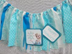 Items similar to Frozen Inspired Party decor, Elsa Banner, highchair panner, photo prop YOU PICK COLORS on Etsy Disney Frozen Party, Frozen Birthday Party, 4th Birthday Parties, 3rd Birthday, Birthday Ideas, Elsa Birthday, Sweet Table Decorations, Frozen Decorations, Party Deco