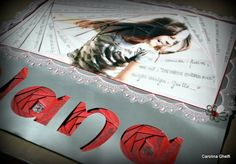 Alana, by Carolina Ghelfi. Iris folding on title and reversed iris folding on main photograph.