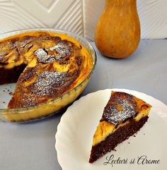 Prajitura cu crema de branza, dovleac si ciocolata