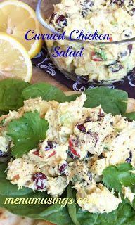 Curried Chicken Salad - high protein, low carb.  Video + step-by-step photos.  Delicious and healthy!