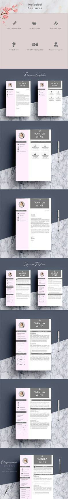 Floral 1 page resume template Template and Professional resume