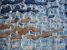 Japanese Vintage Textile Boro Zokin Or Fragment
