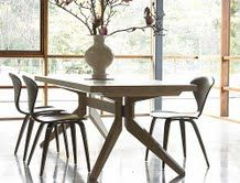Cross Extension Table U2014 Dining Tables    Better Living Through Design. Nice  Combination Of Table And Chairs. Good Idea To Go With More Curves In The  Chairs ...