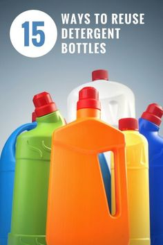 15 Ways to Reuse Detergent Bottles | DIY Craft Ideas | Recyclable Materials Inspiration | Frugal Living Hacks | Saving Money Ideas | Life Hacks Plastic Coffee Containers, Reuse Containers, Reuse Plastic Bottles, Plastic Bottle Crafts, Plastic Container Crafts, Plastic Jugs, Recycled Bottles, Detergent Bottle Crafts, Laundry Soap Container