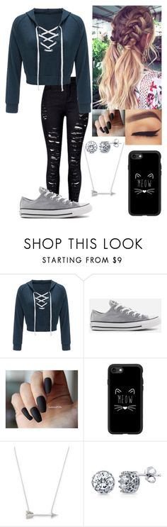 """Why not"" by fashionguru34 ❤ liked on Polyvore featuring Converse, Casetify, Estella Bartlett and BERRICLE"