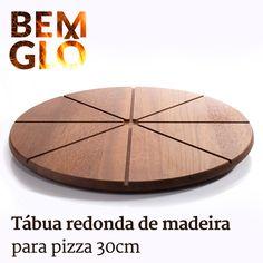 Não tem nada melhor do que servir uma pizza com estilo! ;) #bemglo #tabuademadeira #tudodebemglo