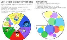 Teach your kids about their feelings with the Inside Out Emotions Wheel Printable