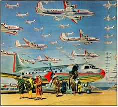 Awesome vintage airline posters and classic airline travel advertisements that will make you wish you could go back in time and visit the golden age of air travel. Retro Airline, Airline Travel, Air Travel, Vintage Advertisements, Vintage Ads, Vintage Cameras, Vintage Ephemera, Air Festival, Vintage Airplanes