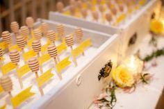 honeydipper escort card ideas #yellowwedding #escortcards