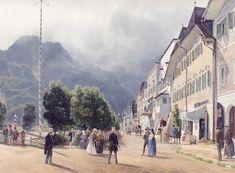 The Esplanade of Ischl by Rudolf von Alt