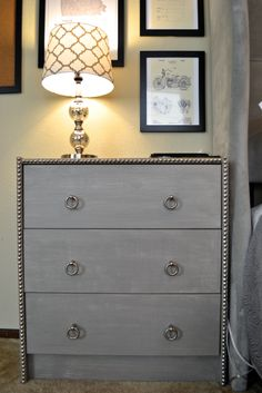 Back when Gabe and I were first dating, he had one bedside table, and it was essentially a single drawer on the floor by his bed. As we got more serious, he be
