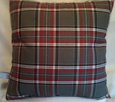 Red and Grey Check Tartan Cushion Cover Various Sizes - 16, 18, 20, 22, 24 | eBay
