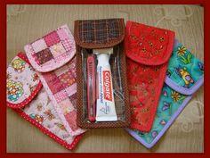 Porta escova de dente by Patch da Lu, via Flickr