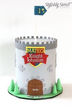 Knight Medieval tower cake www.stylishlysweet.com.au