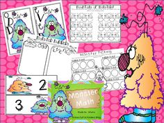 Pocket Full of Kinders!: Monster Math Freebie!