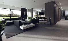 The Minimalist Warm and Clean Interior design from Poland - Modern családi ház belsőépítészet barnára hangolva