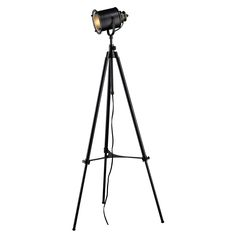 Ethan Adjustable Tripod Floor Lamp by Elk Lighting - available at Multi-Luminaire, Montreal Quebec Black Floor Lamp, Led Floor Lamp, Black Lamps, Elk Lighting, Home Lighting, Lighting Ideas, Studio Lighting, Lighting Solutions, Modern Lighting