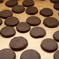 Chocolate Shortbread Refrigerator Cookies by Cara