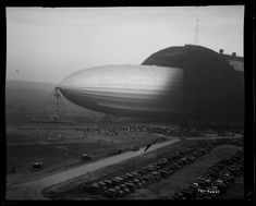 USS Akron leaving Goodyear Airdock in Akron, Ohio