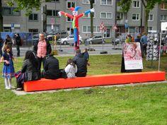Zukunftsfest am BO Schauspielhaus Morellet als Sitzbank