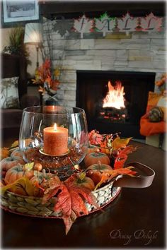Fall Home Decor, Autumn Home, Autumn Decor Living Room, Fall Decor Outdoor, Fall Yard Decor, Coffee Table Centerpieces, Fall Table Decorations, Autumn Centerpieces, Centerpiece Ideas