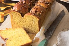 Our recipe for Pumpkin Brioche yields two loaves. Slice one to savor with visitors, and wrap the other to give as a memento of happy times shared. Pumpkin Recipes, Fall Recipes, Brioche Recipe, Victoria Magazine, Dessert Drinks, Desserts, Dry Yeast, Bakery, Good Food