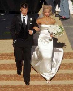 grecian wedding gowns oklahoma city ok Famous Wedding Dresses, Celebrity Wedding Dresses, Wedding Dresses Photos, Celebrity Weddings, Wedding Gowns, Celebrity Couples, Wedding Reception, Jessica Alba, Black Wedding Hairstyles