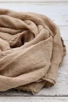 Linen scarf in Cappuccino color. Handmade, stone washed linen scarves for women. Brown Aesthetic, Coffee Colour, Fabric Textures, Women's Clothes, Clothes For Women, Fashion Fabric, Soft Colors, Linen Fabric, Womens Scarves