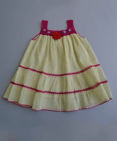 Another great find on #zulily! Magenta & Red Purple Flower Crocheted Dress - Girls by Poppy Trends #zulilyfinds