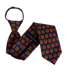 Mens Christmas Holiday Theme Novelty Zipper NeckTie