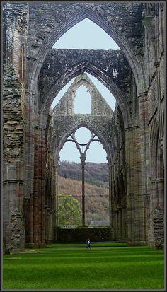 The History of Tintern Abbey ~ The monks walked slowly here, around the Tintern Abbey; in Poverty and prayer, choirs of voices haunt the stone: Monastic walls, Matins and Vespers. Till death did they live there; then monasteries were ended. In lonely abandon, only strangers now walk here. By Henrhyde    Tintern Abbey 1131 -- present day
