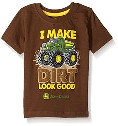 John Deere Boys Dirt Look Good Tee Brown 12 Months -- Check out this great product.