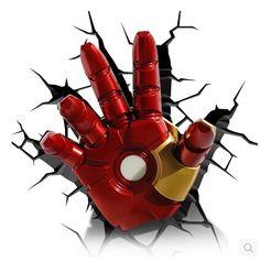 Iron Man hand LED Wall lamp 3D
