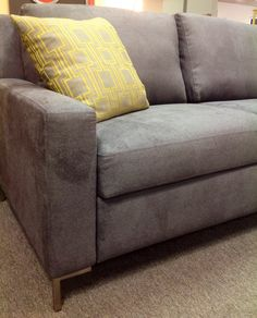 Brynlee Queen Sleeper, Suedelife Heathered Flannel. Available at Scanhome Furnishings on Broadway in Green Bay.