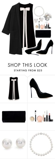 """""""Званный ужин."""" by marianazarova ❤ liked on Polyvore featuring Ted Baker, Casadei and Mikimoto"""
