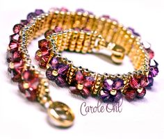 Etsy の FlowerBox Bracelet Tutorial by Carole Ohl by openseed