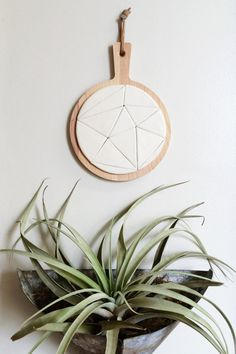 ceramic and wood trivet geometric triangles by cravestudio £30.50