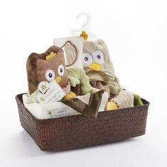 Baby Aspen Owl Gift Basket