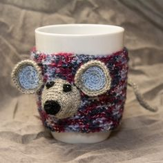 Tea or coffee mug and cup cozy with mouse by CrazySmykker on Etsy, kr200.00