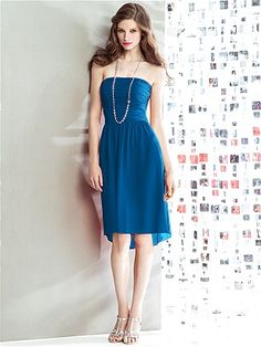 Social Bridesmaids Style 8136 - Cerulean http://www.dessy.com/dresses/bridesmaid/8136/