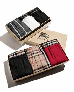 Perfect gift for a guy Boxer Set by Burberry at Neiman Marcus.