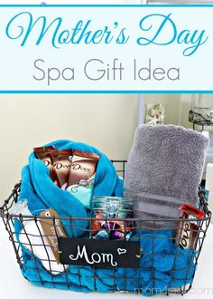 Mother S Day Gift Idea Spa Basket Diy Mothers Gifts Christmas