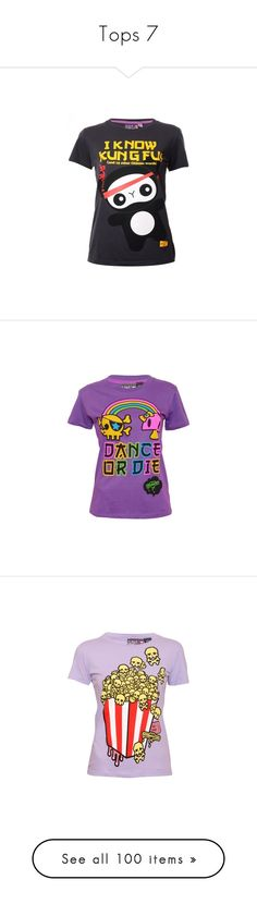 """Tops 7"" by xirishxprincessx ❤ liked on Polyvore featuring tops, t-shirts, 10. tops., panda top, charcoal gray t shirt, panda tee, charcoal t shirt, panda bear t shirt, purple top and purple t shirt"