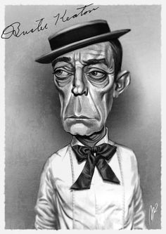 Caricatura de Buster Keaton.